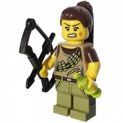 Minifig Lego 12 Cazadora de Dinosaurios