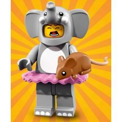 Minifig Lego S18 Chica disfraz elefante